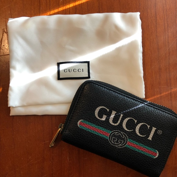 57e02085ef Gucci Print Leather Card Case (ORIGINALLY $495)
